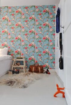 I would pick a less repetitive looking wall paper, but there is something about this floral look that I like.