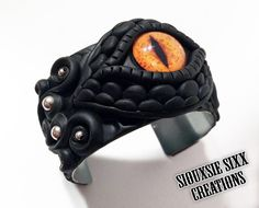 Dragon Eye Bracelet Made of Polymer Clay