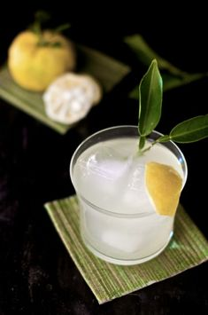 Yuzu cocktail - gorgeous scent of Japanese citron lemons in a cocktail