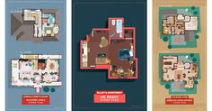 From Buffy to Breaking Bad, Sherlock to Stranger Things, Here are 8 Floor Plans from Cult TV Shows