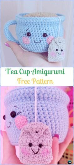 Crochet Amigurumi Tea Cup Free Pattern - Crochet Teacup Patterns