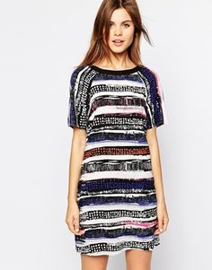 Warehouse Stripe T-Shirt Dress