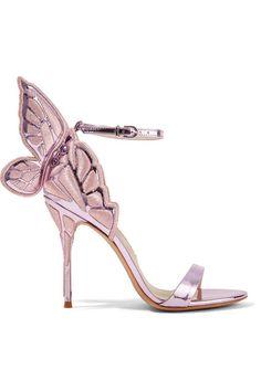 Sophia Webster - Chiara Embroidered Metallic Leather Sandals - Lavender - IT37.5
