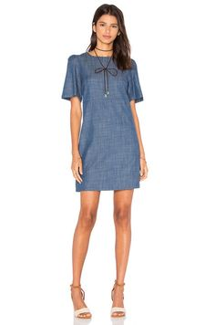 WAYF A Line Dress in Chambray | REVOLVE