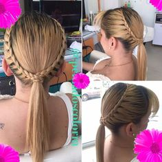 Ideas For Hair Styles Ponytail Simple Night Hairstyles, Baby Girl Hairstyles, Princess Hairstyles, Ponytail Hairstyles, Wedding Hairstyles, Braid Ponytail, Braid Styles, Short Hair Styles, Girl Hair Dos