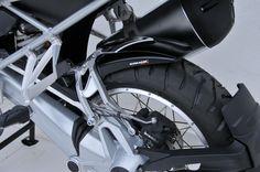 Black rear hugger with aluminium fitting