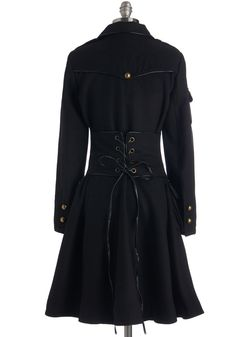 Cinch I've Been Loving You Coat. Ever since you found this delightfully detailed coat, layering your look without sacrificing style has been a cinch! #black #modcloth