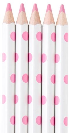 Polka Dot Light Pink pencils
