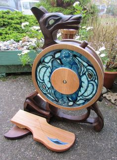 Sweet mother of all things....gander at THIS: From Olympic Spinning Wheels