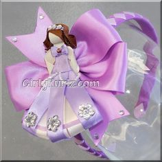 Sofia the First Headband Sofia the First Ribbon Sculpture Hair Clip Princess Hair Clip Princess Hair Bow. $17.70, via Etsy.
