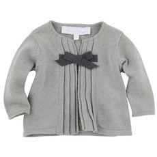Tartine et Chocolat - Shiny light grey knit cardigan