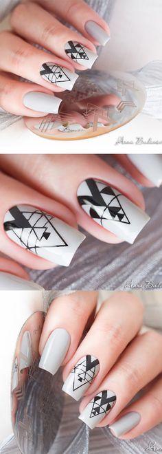 #bornpretty negative space #nailstamping from @anny_budanova, like it? More details shared in bornprettystore.com.