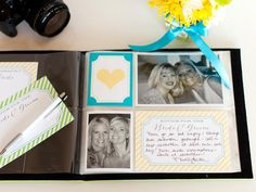 10 Wedding Shower Games and Activities: Create a sweet memory book for the bride-to-be. Set up a photo area where guests can have their photo taken with the bride or other guests at the shower. After taking a photo, have the guest fill out a card  (download and print before the shower) to insert into the book. The guests can provide a piece of advice for th...