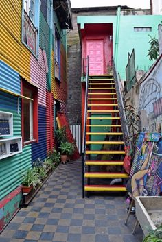 Even the smallest alley is full of life in La Boca Buenos Aires