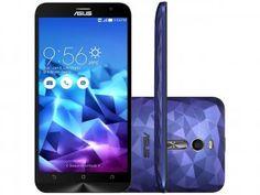 "Smartphone Asus ZenFone 2 Deluxe 128GB Roxo - Dual Chip 4G Câm. 13MP + Selfie 5MP Tela 5.5"""