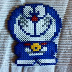 Doraemon, Hama Beads Patterns, Beading Patterns, Hamma Beads Ideas, Kawaii Cross Stitch, Manga Anime, Iron Beads, Pearler Beads, New Theme