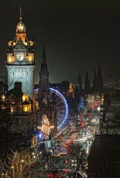 Edinburgh, Scotland night