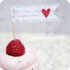 Freebie & Tutorial | Valentine Cupcake Flags | Scrapbooking | CraftGossip.com