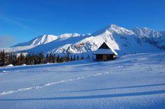 Mountain hut in Gasienicowa valley covered in snow by Pawel Kazmierczak