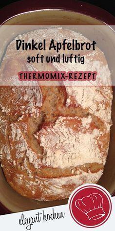 Softes Dinkel Apfelbrot - sooo lecker! #DinkelbrotThermomix #DinkelbrotRezept #BrotRezepteinfach #Brotbacken #krossesBrotRezept