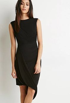 Gathered Drape-Front Dress | Forever 21 | #triedandtrue
