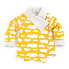 Wrap cardigan sewing pattern for babies and toddlers - Brindille & Twig