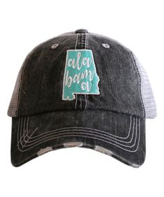 Love this Gray   Mint  Alabama  Baseball Cap on 9fce03b7a7d6