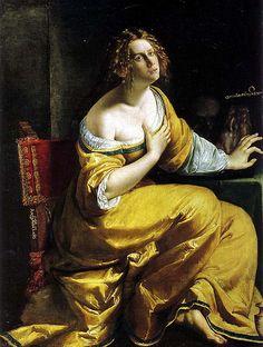 Artemisia Gentileschi - Penitent Mary Magdalene (1613) ARTEMISIA LOMI GENTILESCHI (Roma, 8 luglio 1593 – Napoli, 1653) #TuscanyAgriturismoGiratola