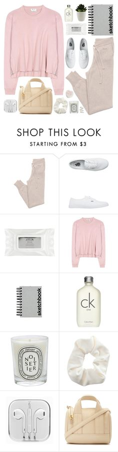 """""""Untitled #2322"""" by liliblue ❤ liked on Polyvore featuring GANT, Vans, Stila, Acne Studios, Paperchase, Calvin Klein, Diptyque, Topshop and Forever 21"""