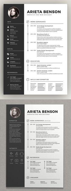 Best Resume Template, Resume Design Template, Creative Resume Templates, Creative Resume Design, Infographic Resume Template, Template For Cv, Free Resume, Cv Templates Free Download, Free Infographic