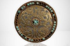 Silver and Gold Plaque with Turquoise, Asia 9th century.