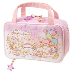 Little Twin Stars Kiki Lala Vanity Case Makeup Box Makeup Pouch Balloon Sanrio J. Makeup Box, Makeup Pouch, Cute Wallets, Kawaii Accessories, Kawaii Shop, Little Twin Stars, Cute Bags, Kawaii Fashion, Sanrio