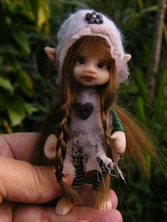 I like this artist style. Sweet posable pixie fairy fairie ooak by throughthemagicdoor, $155.00