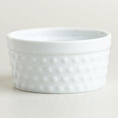 White Hobnail Ramekin, Set of 4 | World Market: I sure do love a good hobnail. $8