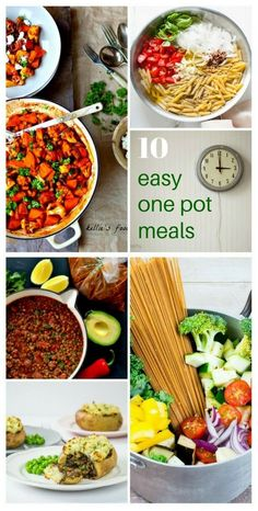 10 Easy one-pot meals to save you time. energy and washing up. Vegetarian & Vegan recipes
