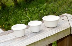 Carlisle Melamine Sauce Cups Set of 3 Vintage by WVpickin on Etsy