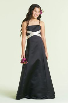 possible flower girl dress for renewing vows. Like this design only in purple & silver..
