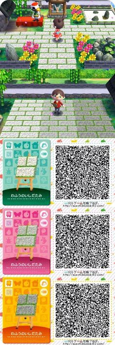 animal crossing qr codes floor home Animal Crossing Pc, Acnl Paths, Motif Acnl, Picnic Blanket, Outdoor Blanket, Ac New Leaf, Happy Home Designer, Pathways, Qr Codes