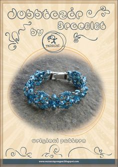 bracelet tutorial / pattern Jobbtazár by beadsbyvezsuzsi on Etsy, $13.00