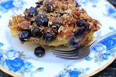 Sunday Brunch: Blueberry Streusel Strata (GF) | A Garden for the House