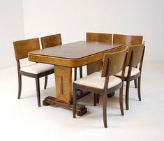 Art Deco, spisebord, stoler (6) | Lauritz.com Functionalism, Art Deco, Dining Table, Furniture, Home Decor, Dinning Table, Interior Design, Dining Rooms, Home Interior Design