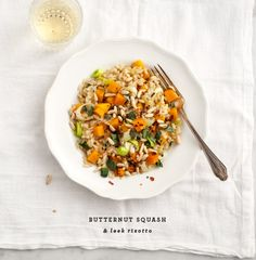 butternut squash & leek risotto from love & lemons