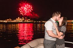 Surprise proposal during wishes fireworks at Disney by top Orlando photographer