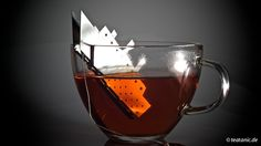 The TEA.Tanic is a stainless steel tea bag holder designed by Gordon Adler that is made to look like the Titanic sinking.