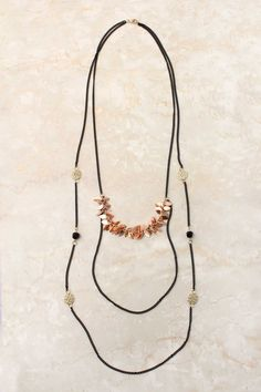 Rose Flake Adin Necklace  - simple but chic...can I carry it off? (just a photo)