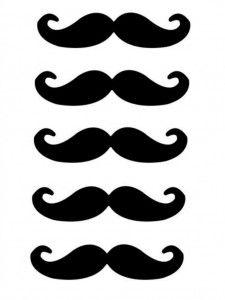 Moustache printables - Uniquely Yours Wedding Invitation