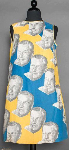 Rockefeller Campaign Paper Dress, 1968, Augusta Auctions, April 8, 2015 NYC