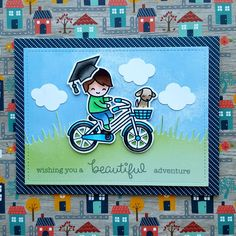 I made another graduation card and this time I used the Bicycle Built For You set and the little graduation cap from Smart Cookie. All from ...