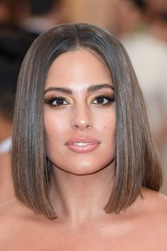 Ashley Graham. Even the queen of long, flowy tresses tested out the bob in its most classic style: center parted and glossy as all heck. Invest in a good flatiron to nail this look yourself. *This* Is Summer's Trendiest Haircut #purewow #haircare #hair #tip #trends #beauty #summerhair #haircuts #lob #bob #shorthair #longbob #hairinspiration #straighthair #sleekhair #haircolor #ashleygraham
