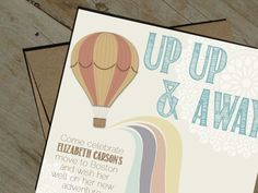 Hot Air Balloon Going Away Party Invitation PRINTABLE